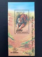 Indonesia 1995 / Flora and Fauna - Tiger / minisheet mnh