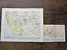 1894 Sussex Eastbourne Johnson Pictorial Antique Map Newhaven Seaford Pevensey