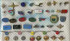 VINTAGE OLD AIRLINES AIRPLANE FLUG AVIATION PIN BADGE LOT 45 PIECES!!!