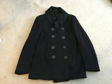 VINTAGE WW2 40S 10 BUTTONS U.S NAVY PEA COAT ARMY MILITARY