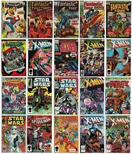 Vintage Marvel Comic Lot X-Men Amazing Spiderman Fantastic Four Star Wars $490+
