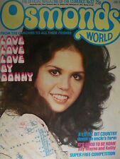 OSMONDS WORLD MAGAZINE - ISSUE 32 JUNE 1976 - (INCLUDES JIMMY OSMOND POSTER)