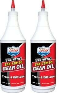 Lucas Synthetic SAE 75W/90 Gear Transmission & Diff Oil Lube 10047 (2 Quarts)