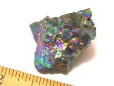 Rainbow Aura Quartz crystal Cluster 1  x 1 inch r9