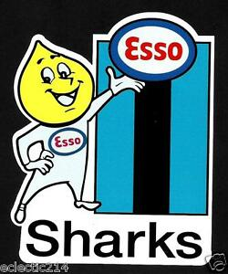 'THE SHARKS & ESSO'' Vinyl Decal Sticker CRONULLA SUTHERLAND nrl rugby league
