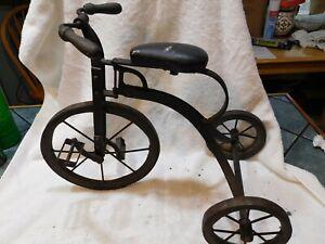 Antique Tricycle Wood & Metal wheelsVintage Kids trike 1890's? salesman sample?