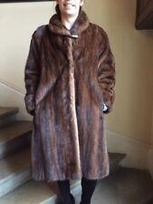 Manteau vison marron taille 38
