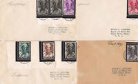 BELGIUM - QUEEN ASTRID B170 - B177- FDC FIRST DAY COVER COLLECTION - LOOK!
