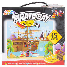Large 45pc Childrens Pirate Ship Floor Jigsaw Puzzle Creative Activity Game Gift