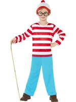 NEW Boys Where's Wally Kids Fancy Dress Costume - Book Day Outfit