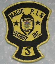 "Magic PI & Security Inc Patch - North Dakota -  3 7/8"" x 4 3/4""  - private eye"