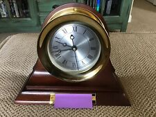 BEAUTIFUL CHELSEA MANTLE CLOCK GOLD WOOD ENGRAVED IN BOX 2008