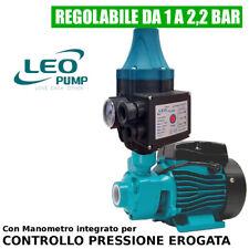 KIT POMPA AUTOCLAVE 0,50 HP con PRESSCONTROL 1,5 - 2,2 BAR REGOLABILE