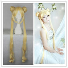 Anime Sailor Moon Tsukino Usagi Princess Long Costume Party Cos Wig 100cm Golden