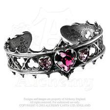 Alchemy - Elizabethan - Pewter and Swarovski Crystals Bangle Bracelet