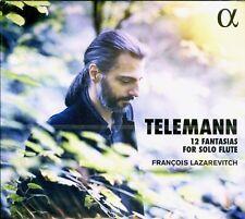 TELEMANN 12 fantasias for solo flute  FRANCOIS LAZAREVITCH