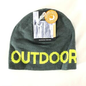 Outdoor Research Kids Booster Beanie Hat Reversible Cold Weather Yellow Gray OS