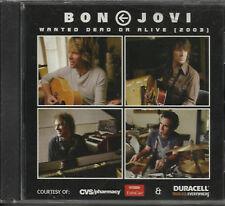 BON JOVI Wanted Dead & Distance LIVE CVS LIMITED PROMO CD SEALED USA Seller 2003