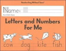 Handwriting Without Tears - Letters and Numbers for Me Kindergarten  NEW
