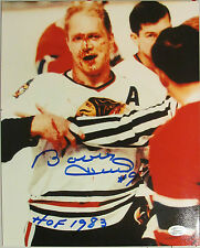 Bobby Hull Signed Chicago Blackhawks Color Photo JSA Autograph HOF #9 Bloody