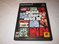 Grand Theft Auto III,3 (Playstation PS2)  Black Label Game in Case w/Manual Exc!