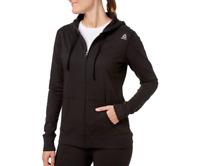 Reebok Women's Core Cotton Jersey Zip Front Hoodie