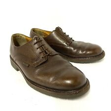 MEPHISTO Marlon Air Relax Oxfords Pebbled Brown Leather Men's Shoes Sz 8.5 EUR 8