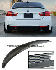 For 14-Up BMW F32 4-Series 2Dr Performance Style Carbon Fiber Rear Trunk Spoiler