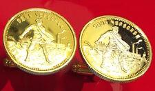 Soviet Russian 1923 Gold Chervonetz 10 Roubles CCCP USSR Russia Coin Cufflinks!!