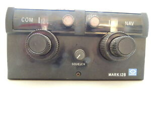 Narco Mark 12B VHF NAV/COMM With T-12 MP-12A1 Audio Unit & Cable