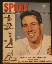 April 1949 Sport Magazine Bob Feller Indians
