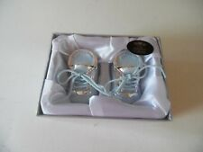 The Leonardo Collection Blue Baby Boots Keepsake - First Tooth & Curl - New