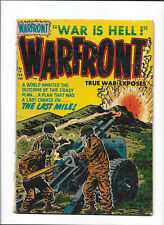 "WARFRONT #19 [1954 VG+] ""THE LAST MILE!""   ARTILLERY COVER!"