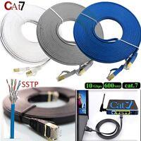 1M 2M 3M 5M 10M 20M RJ45 Cat7 Ethernet Network LAN Patch SSTP Gigabit Cable Lot