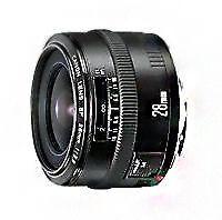 Canon EF 2,8/28mm gran angular objetivamente
