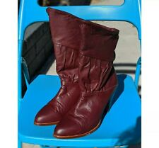 Frye Vintage Slouchy Boots, 9, Burgundy / Oxblood Made In The USA