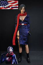 "1/6 Carla Radames Ada Wong Resident Evil 6 Dress Set For 12"" Phicen Hot Toys"