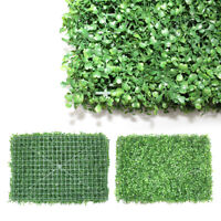 12/24 Pcs Artificial Plant Boxwood Mat Fence Hedge Wall Fake Grass Floral Decor