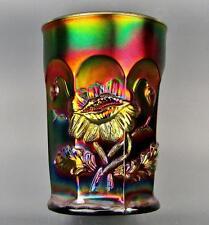 CARNIVAL GLASS - NORTHWOOD ORIENTAL POPPY Purple Tumbler 3586
