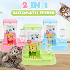 Automatic Large Pet Dog Cat Puppy Food Water Bowl Dispenser Feeder Capacity 6kg