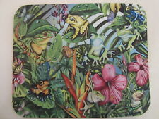 Frog Flower Butterfly Mouse Pad