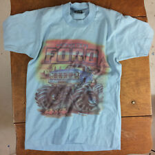 Vintage 80s Youth Kids Teen Ford Monster Truck 4X4 Racing Promo T Shirt Box Body