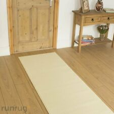 360cm X 70cm - Cheap Clearance Hall Hallway Carpet Runner Mat - Plain Cream