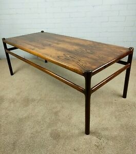 Large Danish Rosewood Coffee Table by Johannes Andersen for CFC Silkeborg