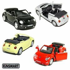 "Set of 4: 5"" Volkswagen New Beetle Convertible 1/32 diecast model toy car vw"