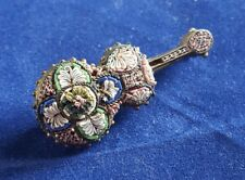 Antique vintage micro mosaic brooch fine quality
