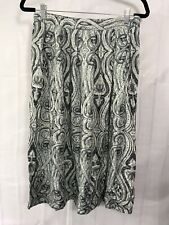 "Koret Womens Size M Waist 28"" Blue White Floral Paisley Midi Skirt Pleated"