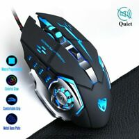 Pro Gamer Gaming Mouse Adjustable Wired Optical Led Computer Mice Usb Cable