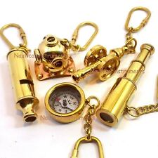 Set of 5 Pcs Telescope, Compass, Pollise Whistle, Diving Helmet, Cannon Keychain