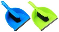 Dustpan and Brush Set Home Cleaning Supplies Rubber Scoop Light Weight joblot